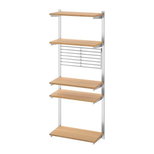 KUNGSFORS - 導軌連層板/牆架, 不銹鋼/竹 | IKEA 香港及澳門 - PE748365_S4