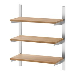 KUNGSFORS - suspension rail with shelves, stainless steel/ash | IKEA Hong Kong and Macau - PE748366_S3