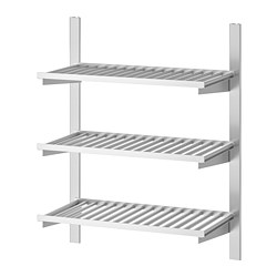 KUNGSFORS - suspension rail with shelves, stainless steel | IKEA Hong Kong and Macau - PE748368_S3