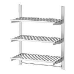 KUNGSFORS - suspension rail w shelves and rail, stainless steel   IKEA Hong Kong and Macau - PE748369_S3
