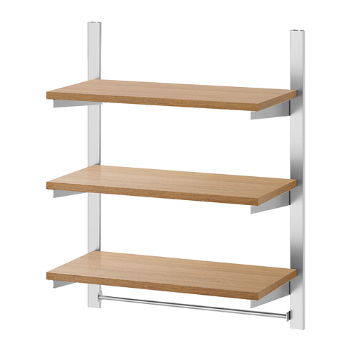 KUNGSFORS - suspension rail w shelves and rail, stainless steel/ash | IKEA Hong Kong and Macau - PE748370_S4