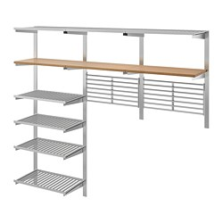 KUNGSFORS - suspension rail w shelves/wll grids, stainless steel/ash | IKEA Hong Kong and Macau - PE748372_S3