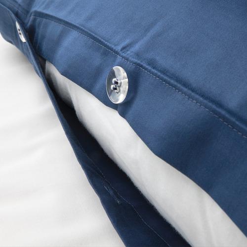 LUKTJASMIN - 被套連2個枕袋, 深藍色, 240x220/50x80 cm | IKEA 香港及澳門 - PE803785_S4