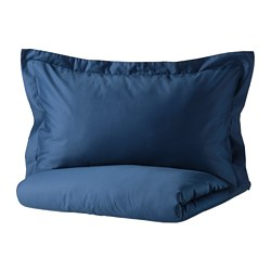 LUKTJASMIN - 被套連2個枕袋, 深藍色, 240x220/50x80 cm | IKEA 香港及澳門 - PE803784_S3
