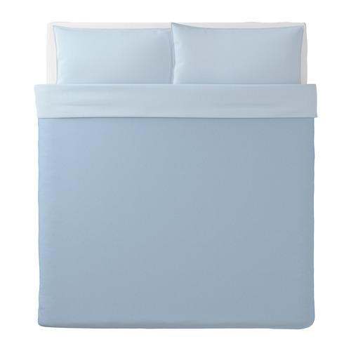 BLÅVINDA - 被套連2個枕袋, 淺藍色, 240x220/50x80 cm    IKEA 香港及澳門 - PE748525_S4