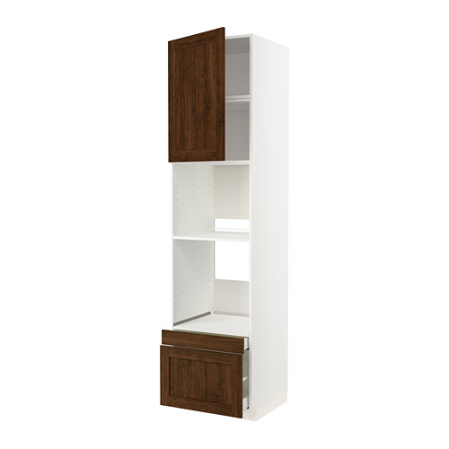 METOD/MAXIMERA - 焗爐用高櫃組合, 白色/Edserum 褐色 | IKEA 香港及澳門 - PE803813_S4