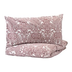 JÄTTEVALLMO - quilt cover and 2 pillowcases, white/dark pink, 240x220/50x80 cm    IKEA Hong Kong and Macau - PE748554_S3