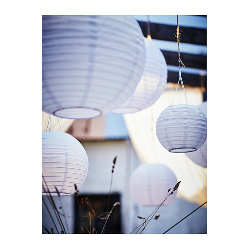 SOLVINDEN - 太陽能LED吊燈, 戶外/球形 白色   IKEA 香港及澳門 - PH148357_S4