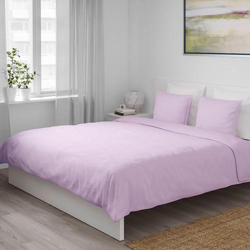 ÄNGSLILJA 被套連2個枕袋, 淺紫色, 200x200/50x80 cm