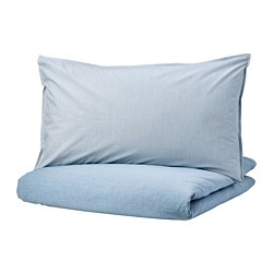 BLÅVINDA - quilt cover and 2 pillowcases, light blue, 200x200/50x80 cm | IKEA Hong Kong and Macau - PE748532_S3