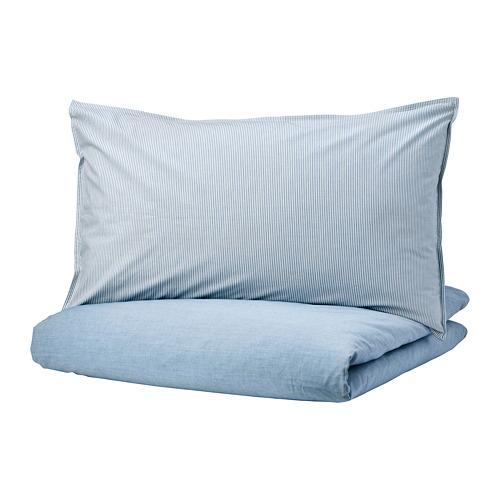 BLÅVINDA - 被套連2個枕袋, 淺藍色, 240x220/50x80 cm    IKEA 香港及澳門 - PE748532_S4