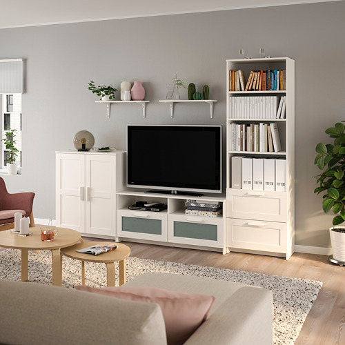 BRIMNES/BURHULT - TV storage combination, white | IKEA Hong Kong and Macau - PE803957_S4