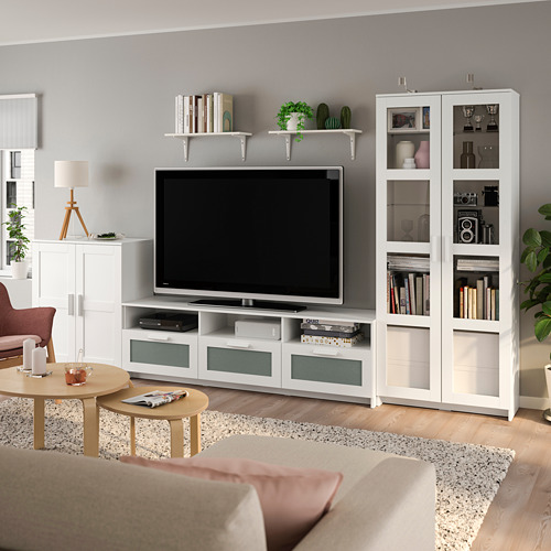 BRIMNES/BURHULT - TV storage combination, white | IKEA Hong Kong and Macau - PE803958_S4