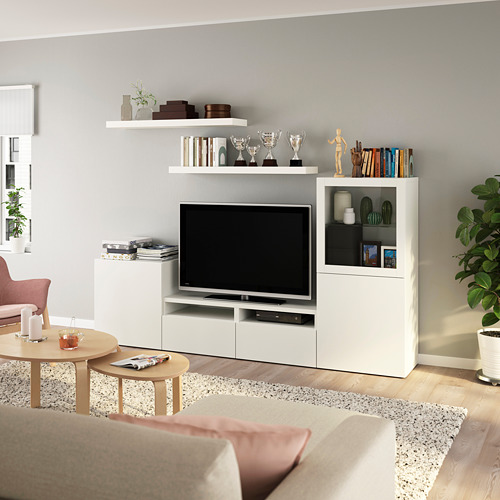 LACK/BESTÅ - TV storage combination, white | IKEA Hong Kong and Macau - PE803964_S4