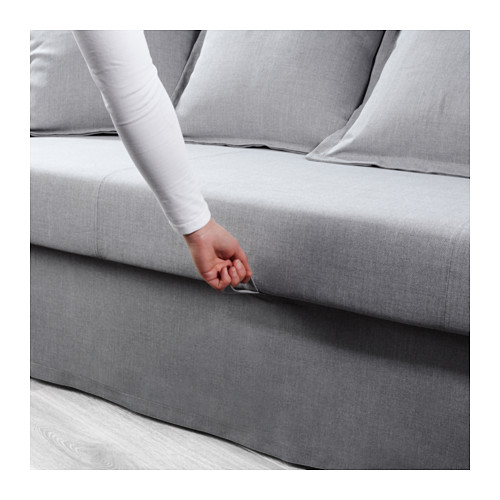 HOLMSUND - three-seat sofa-bed with storage, Nordvalla medium grey | IKEA Hong Kong and Macau - PE603724_S4