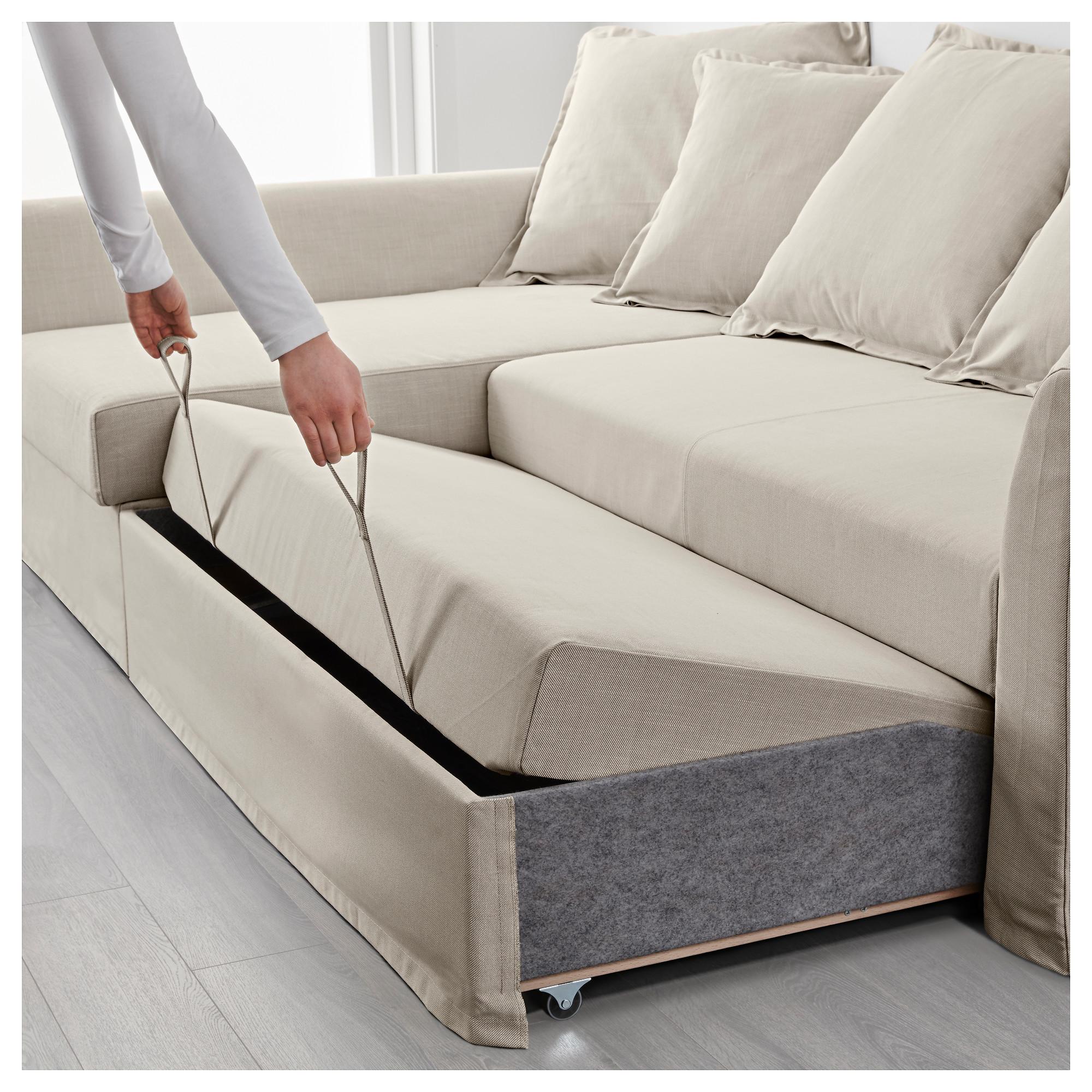 official photos 0a658 1a3e1 HOLMSUND - corner sofa-bed, Nordvalla beige   IKEA Hong Kong