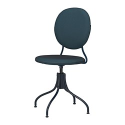 BJÖRKBERGET - swivel chair, Idekulla blue | IKEA Hong Kong and Macau - PE804116_S3