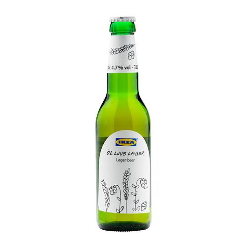 ÖL LJUS LAGER 淡啤酒(4.7%酒精)