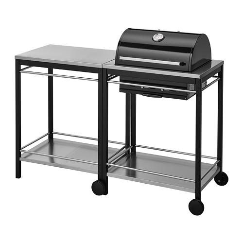KLASEN - 燒烤炭爐連活動几, 不銹鋼 | IKEA 香港及澳門 - PE748641_S4