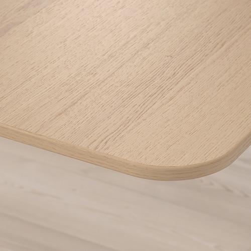 BEKANT - corner desk right sit/stand, 160x110cm, white stained oak veneer white | IKEA Hong Kong and Macau - PE722328_S4