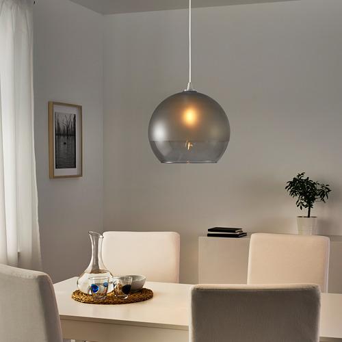 JAKOBSBYN - 吊燈燈罩, 磨砂玻璃/灰色   IKEA 香港及澳門 - PE804124_S4