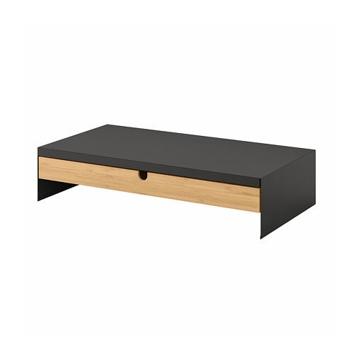 ELLOVEN - 螢幕架連抽屜, 47x26x10 cm, 炭黑色 | IKEA 香港及澳門 - PE804427_S4
