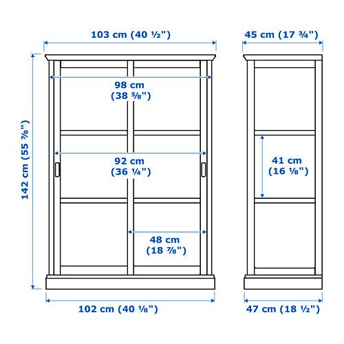 MALSJÖ - glass-door cabinet, black stained   IKEA Hong Kong and Macau - PE660498_S4