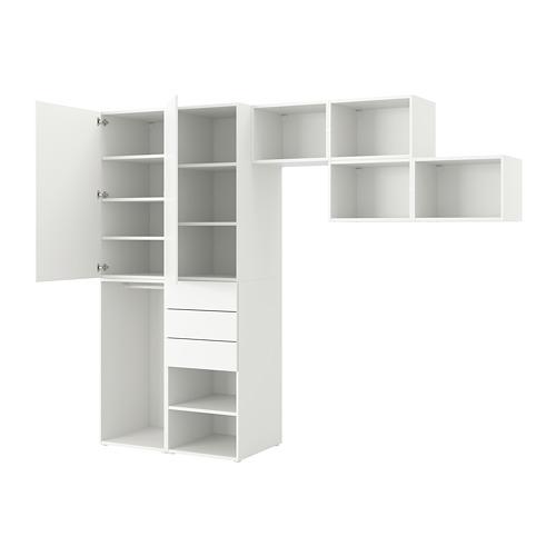 PLATSA - 雙門衣櫃連3格抽屜, Fonnes 白色 | IKEA 香港及澳門 - PE748869_S4