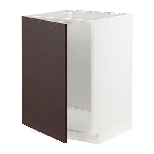 METOD - base cabinet for sink, white Askersund/dark brown ash effect | IKEA Hong Kong and Macau - PE780792_S4