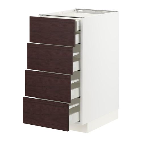 METOD/MAXIMERA - base cb 4 frnts/2 low/3 md drwrs, white Askersund/dark brown ash effect | IKEA Hong Kong and Macau - PE780780_S4