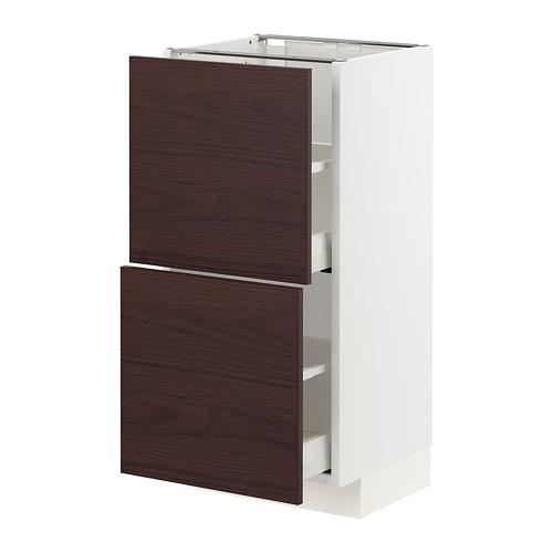 METOD/MAXIMERA - base cabinet with 2 drawers, white Askersund/dark brown ash effect | IKEA Hong Kong and Macau - PE780766_S4