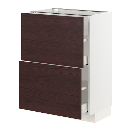 METOD/MAXIMERA - base cabinet with 2 drawers, white Askersund/dark brown ash effect | IKEA Hong Kong and Macau - PE780767_S4