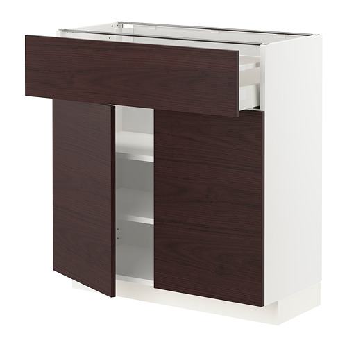 METOD/MAXIMERA - base cabinet with drawer/2 doors, white Askersund/dark brown ash effect | IKEA Hong Kong and Macau - PE780801_S4