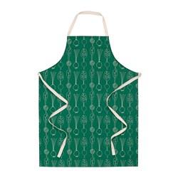 TORVFLY - 圍裙, 圖案/綠色 | IKEA 香港及澳門 - PE804596_S3