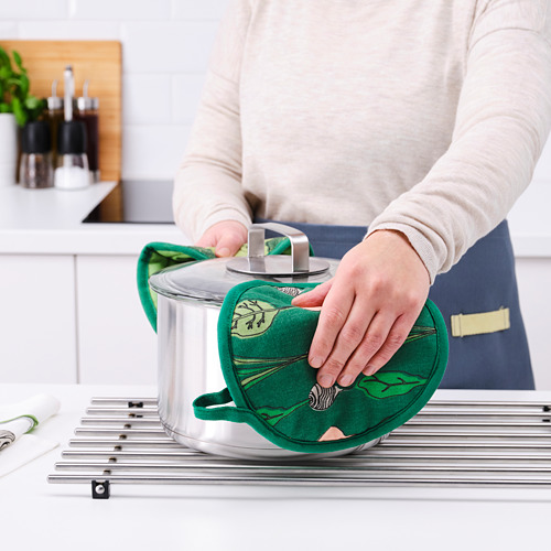 TORVFLY - pot holder, patterned/green   IKEA Hong Kong and Macau - PE804619_S4