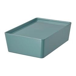KUGGIS - storage box with lid, turquoise | IKEA Hong Kong and Macau - PE804739_S3