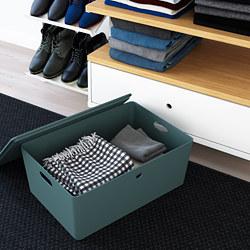 KUGGIS - 連蓋貯物盒, 37x54x21 cm, 湖水綠色   IKEA 香港及澳門 - PE804734_S3