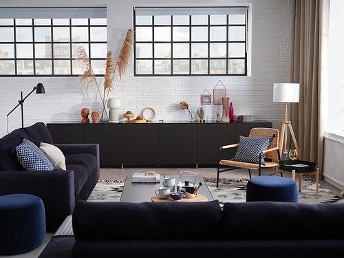 VIMLE - 兩座位梳化, 有寬闊扶手/Saxemara 藍黑色 | IKEA 香港及澳門 - PH178076_S4