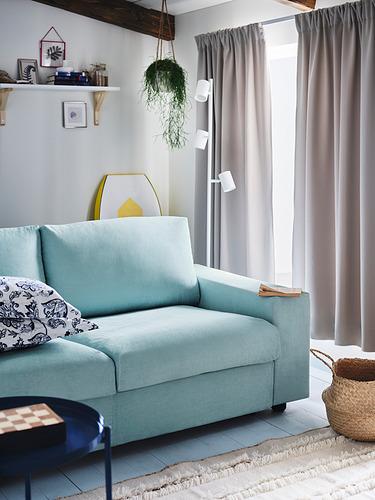 VIMLE - 3-seat sofa, with wide armrests/Saxemara light blue   IKEA Hong Kong and Macau - PH177656_S4
