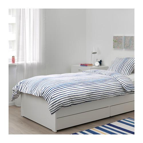 SÅNGLÄRKA - 被套枕袋套裝, 條紋/藍色 白色 | IKEA 香港及澳門 - PE709370_S4