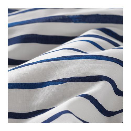 SÅNGLÄRKA - 被套枕袋套裝, 條紋/藍色 白色 | IKEA 香港及澳門 - PE709375_S4