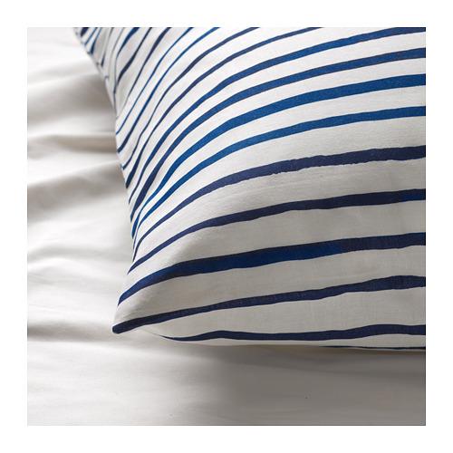 SÅNGLÄRKA - 被套枕袋套裝, 條紋/藍色 白色 | IKEA 香港及澳門 - PE709374_S4