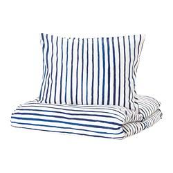 SÅNGLÄRKA - 被套枕袋套裝, 條紋/藍色 白色 | IKEA 香港及澳門 - PE709372_S3
