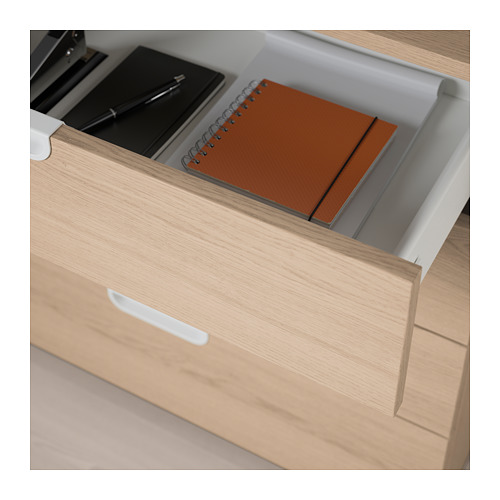 GALANT - storage combination with drawers, white stained oak veneer | IKEA Hong Kong and Macau - PE709384_S4