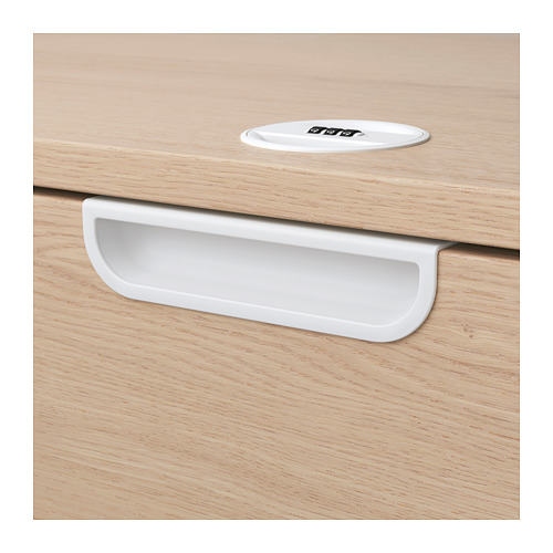 GALANT - storage combination with drawers, white stained oak veneer | IKEA Hong Kong and Macau - PE709381_S4