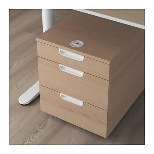 GALANT - 活動抽屜組合, 染白橡木飾面 | IKEA 香港及澳門 - PE709399_S4