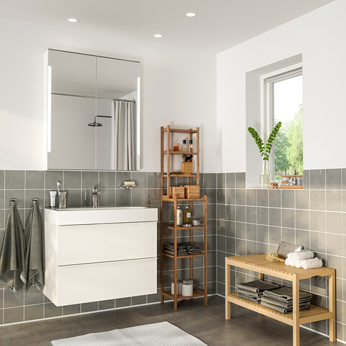 BRÅVIKEN/GODMORGON - bathroom furniture, set of 5, high-gloss white/Brogrund tap | IKEA Hong Kong and Macau - PE748924_S4