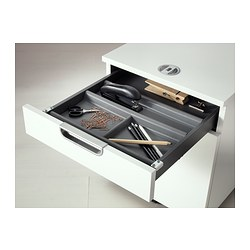 SUMMERA - drawer insert with 6 compartments, anthracite | IKEA Hong Kong and Macau - PE400735_S3