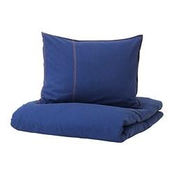 SÅNGLÄRKA - 被套枕袋套裝, 深藍色 | IKEA 香港及澳門 - PE709435_S3