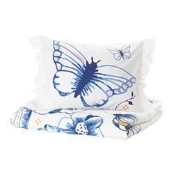 SÅNGLÄRKA - 被套枕袋套裝, 蝴蝶/白色 藍色 | IKEA 香港及澳門 - PE709449_S3